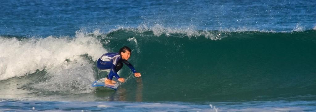 surf à la lette blanche