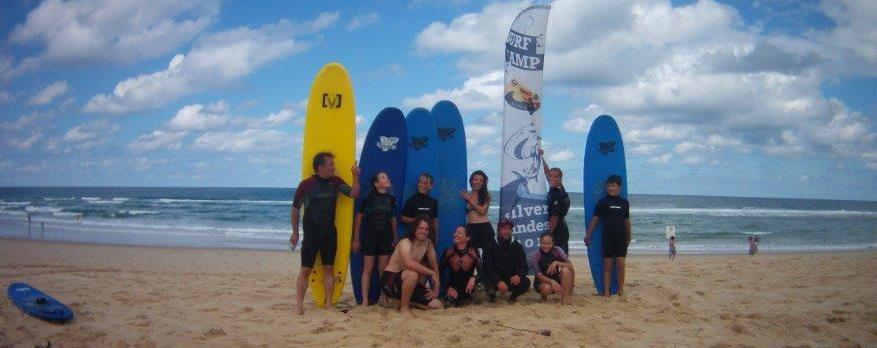 Cous de surf à Moliets