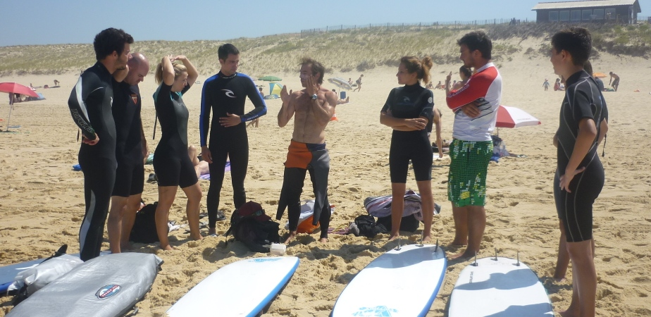 cours de surf plage de La Lette Blanche