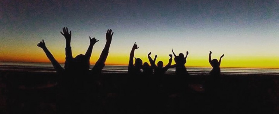 Sunset a la plage
