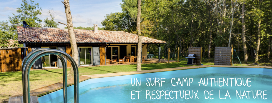 maison piscine surf camp